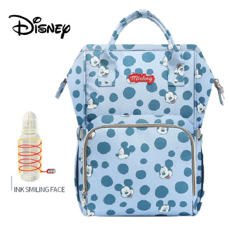 Disney Bottle Feeding Insulation Bags USB Oxford Cloth Nappy Stroller Bag Backpack Waterproof Bolsa Maternidade Diaper