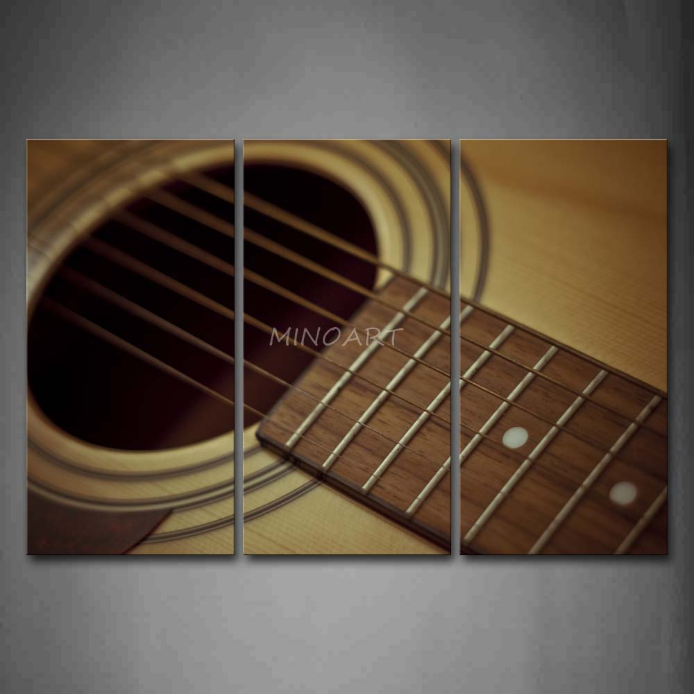 3 Piece Wall Art Painting Guitar Chords And A Hole In Circle Print