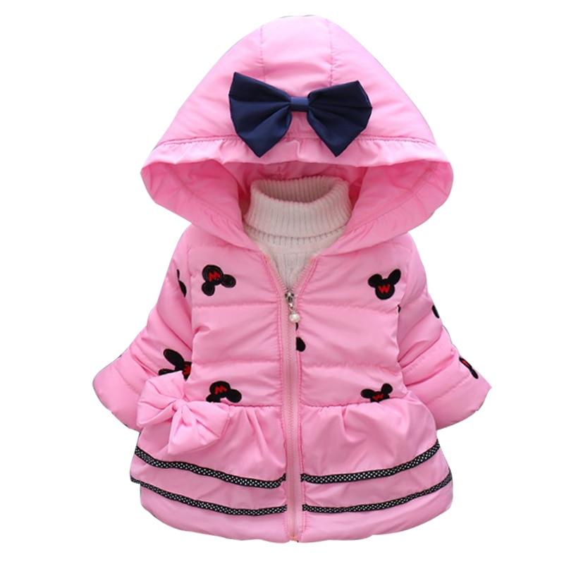 2017 Neue Minnie Baby Mädchen Jacke Kinder Winter Cartoon Schöne Halten Warmen Mantel Kinder Baumwolle Mode Mit Kapuze Starke Oberbekleidung Elegant Und Anmutig