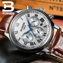 Reloj de los hombres BINGER Top Lujo de la Marca Masculina de Cuero Reloj Mecánico Automático Hombres multi-fuction Militar Relojes de Pulsera