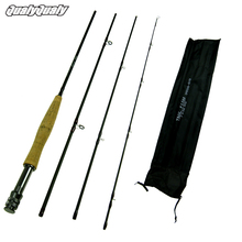 2017 Fly Fishing Rod 8ft 4 Section #5~#6 Graphite Fly Fishing Rod 4-Piece Lightweight Portable Carbon Fiber Fishing Pole