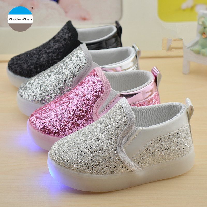 2017 LED kids light shoes 1 to 6 years old baby boys and