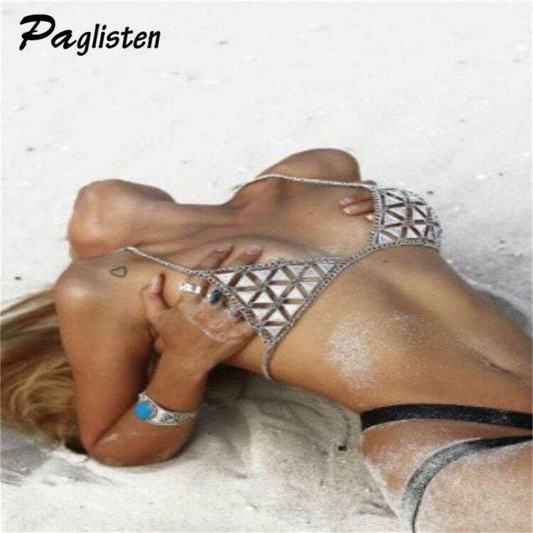 PAGlisten New Sexy Women Love Hollow Bra Brassiere Summer Hot Fashion Statement Necklace Jewelry SKU5772