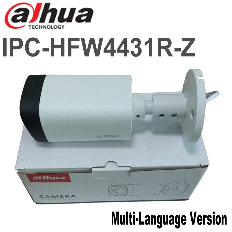 bilder für Freies verschiffen Dahua 4MP IR Gewehrkugel ip-kamera IPC-HFW4431R-Z IP67 POE cctv-kamera 2,7mm ~ 12mm objektiv netzwerk kamera