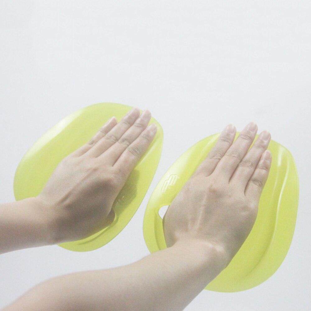 1 par de palas de natación de par silicona carrera profesional mano Paddle agua deportes natación entrenamiento accesorios S/M Tamaño