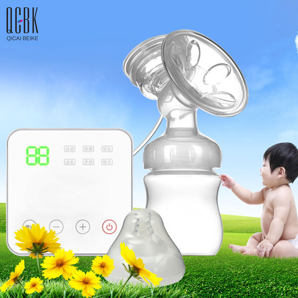 Adjustable USB Electric Breast Pumps Baby BPA Free Postpartum Breast Feeding Breast Milk Sucker With 150ML Nursing Bottle Nipple more convenient usb bpa free breast pump powerful nipple suction breast electric breast pumps mom love breast feeding rbx 8006s