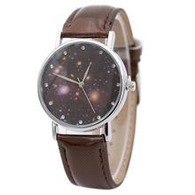 BAOLANDE2016 Hot Sale Women's Fashion Casual Sport Star Series Leather Band Analog Quartz Watch Clock Dec 1