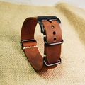 New replacement Watch Band Strap crazy horse leather nato 20/mm22mm/24mm/26mm