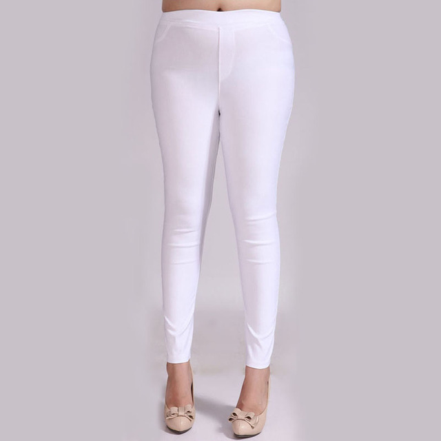 Aliexpress.com : Buy Korean Large Size high waisted Thin White ...