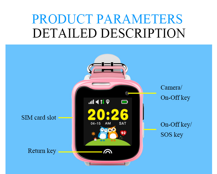 IP67 Waterproof Smart Kids Child Watch Baby Safe Smartwatch GPS WIFI LBS SOS Location Tracker Remote Camera Monitor Smart Watch 18