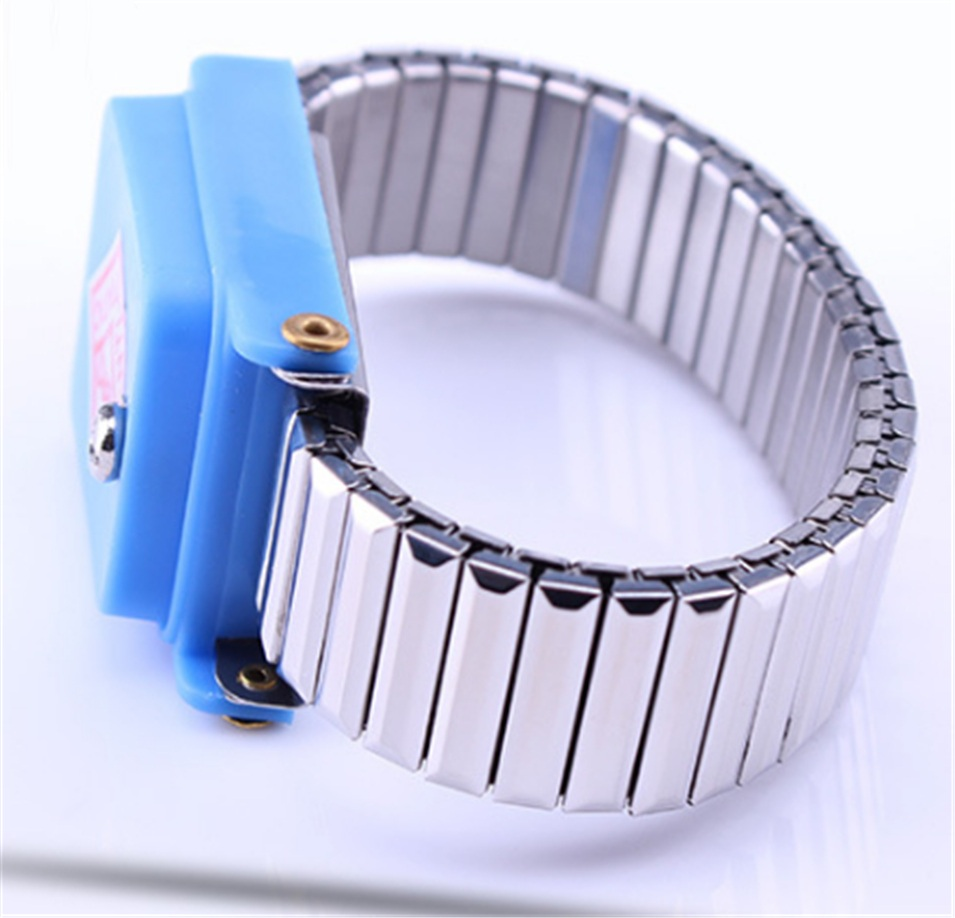 Antistatic Wristband Esd Wrist Strap Blue Metal Discharge For Electrician Ic Plcc Worker Antistatic Bracelet Free Shipping Special Summer Sale