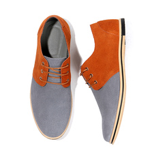 Mens Shoes Made Of Genuine Leather Mans Lace-Up Casual Mixed Colors Big Size 45-50 Sturdy Sole Male Flat