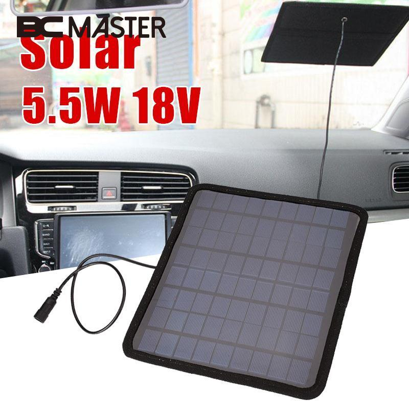 BCMaster Portable 18V 5.5W Solar Power Panel Car Boat Automobile Battery Power Charger Camping Travelling PowerPoint Supply Gift