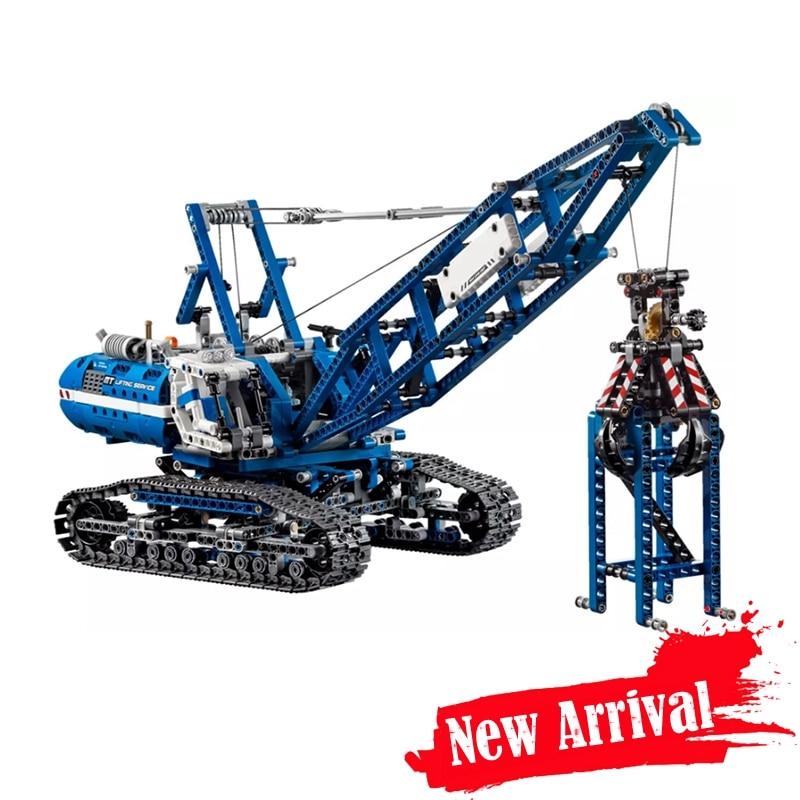 MOC 20010 New 1401Pcs Genuine Technic Mechanical The Crawling Crane Set Building Blocks Bricks lepin Educational Toys ювелирное изделие 20010