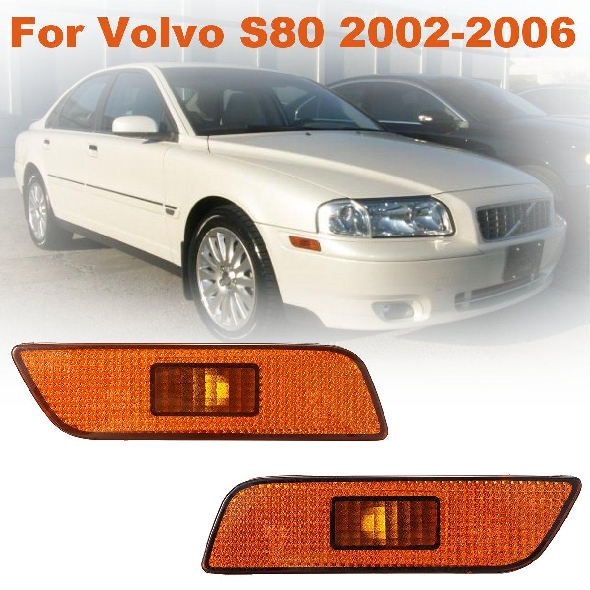 #30744360 #30744361 Pair PMMA Front Left Right Side Marker Lamps Lights For Volvo S80 2002 2003 2004 2005 2006 actuator for k04 53049880028 077145703p 077145703pv turbo turbochager for audi rs6 c5 left side 2002 2004 year 450hp bcy biturbo