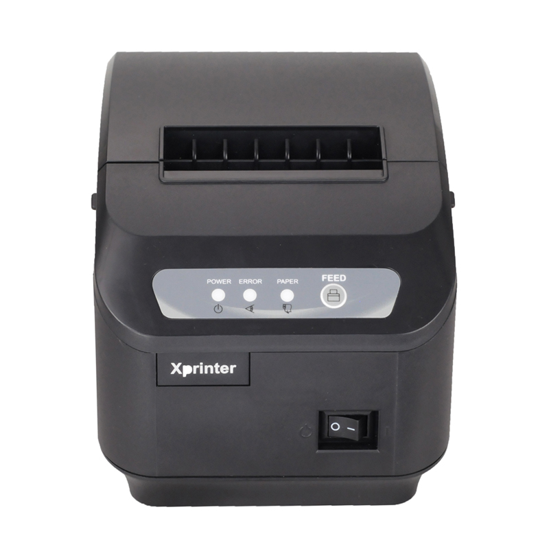 E-EMSFreeshipping pos printer High quality 80mm thermal receipt printer XP-Q200II automatic cutting machine USB+RS232 interface
