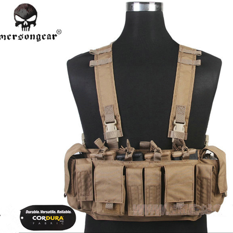 2017EmersonGear MF Style UW IV Chest Rig 500D Molle Tactical Vest with Multi pockets for EDC