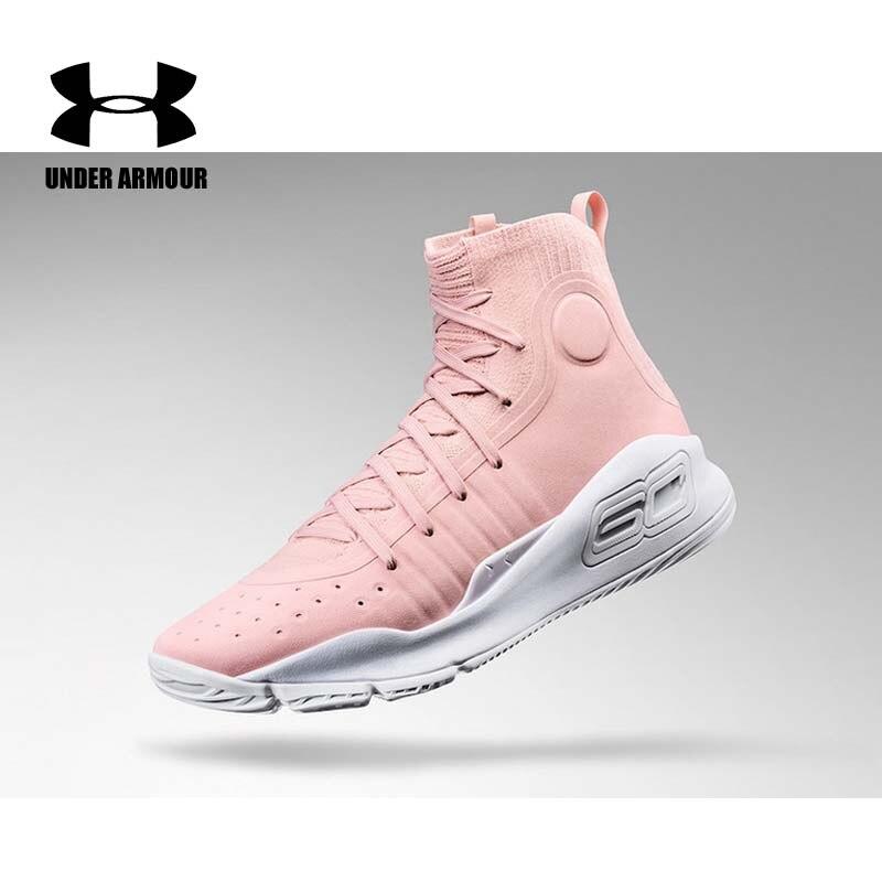 Under Armour femmes Curry 4 chaussures de basket mode chaussette baskets rose chaussures de sport bottes d'entraînement Zapatillas Mujer US 5.5-8.5