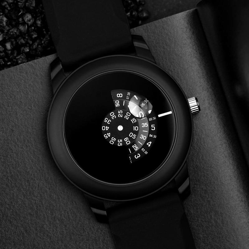 2019 Gift Enmex Creative Style Men Wristwatch Black Camera Concept Cool Design Silicone Band Brief Casual Quartz Sport Watch