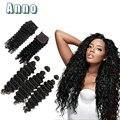 Lace closure limitado venda pure color todas as cores empresa 8a cabelo peruano virgem com fechamento com 3 pacotes com