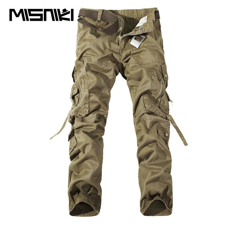 MISNIKI 2017 Neue Armee Militärische Tarnung Overalls Taschen Hosen Overalls Big Meter Männer Camo Kampfarbeitshose Hosen Overalls
