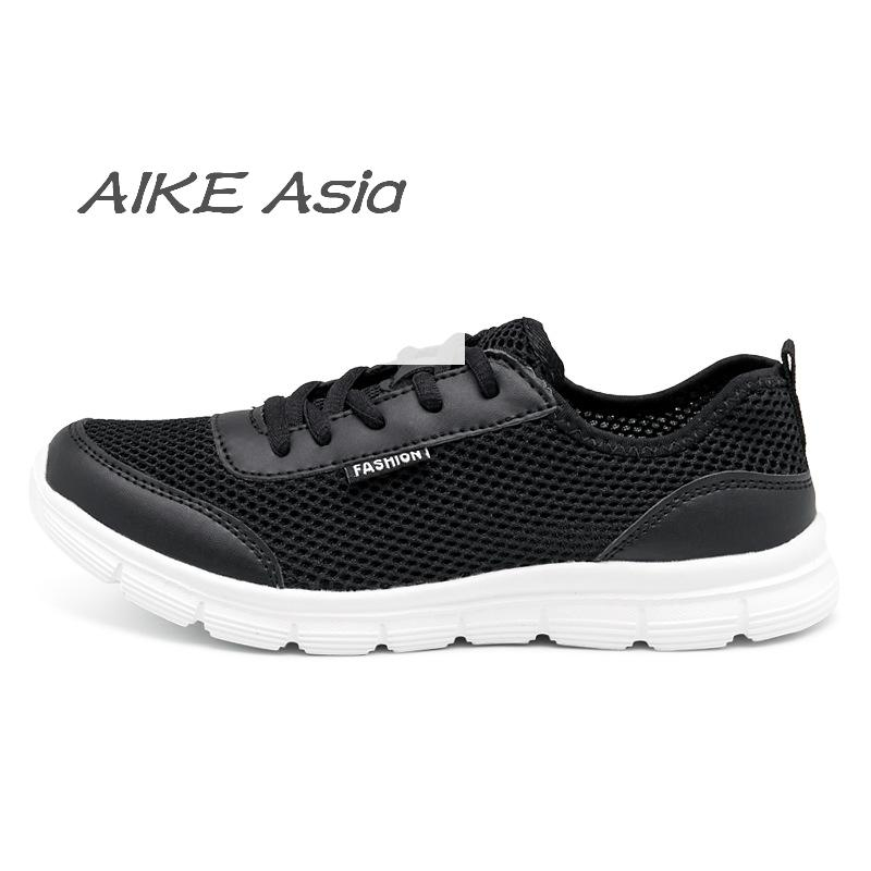 Shoes Initiative Aike Asia Mens Shoes 2018 Summer Fashion Breathable Casual Shoes Lace High Quality Ladies Network Shoes Zapatillasxl 35-46 Men's Casual Shoes