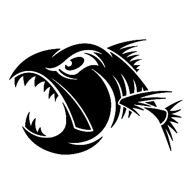 XGS DECAL Car decals 15cm x 10 cm aggressive fish car motorcycle electric bicycle car stickers reflective waterproof stickers