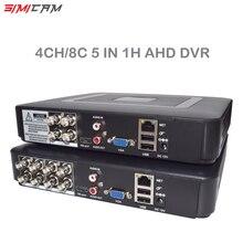 Видеорегистратор CCTV DVR 8CH 4CH Mini DVR AHD DVR 5in1 Hybrid DVR 1080P для CCTV Kit mini NVR для Onvif AHD 5mp IP камеры H265x
