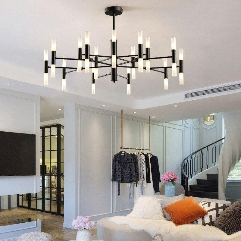 Postmodern chandeliers lighting Nordic Deco luminaires Glass suspended fixtures living room hanging lights bedroom hanging lamps-in Chandeliers from Lights & Lighting    1