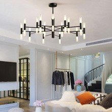 Postmodern chandeliers lighting Nordic Deco luminaires Glass suspended fixtures living room hanging lights bedroom hanging lamps