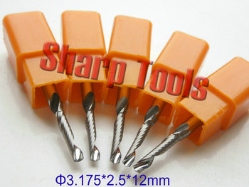 TOP Imported 3.175*2.5*12mm One Flute Micro Grain Carbide Router Bit CNC Milling Cutter Tools, CNC Router Bits for Wood Milling