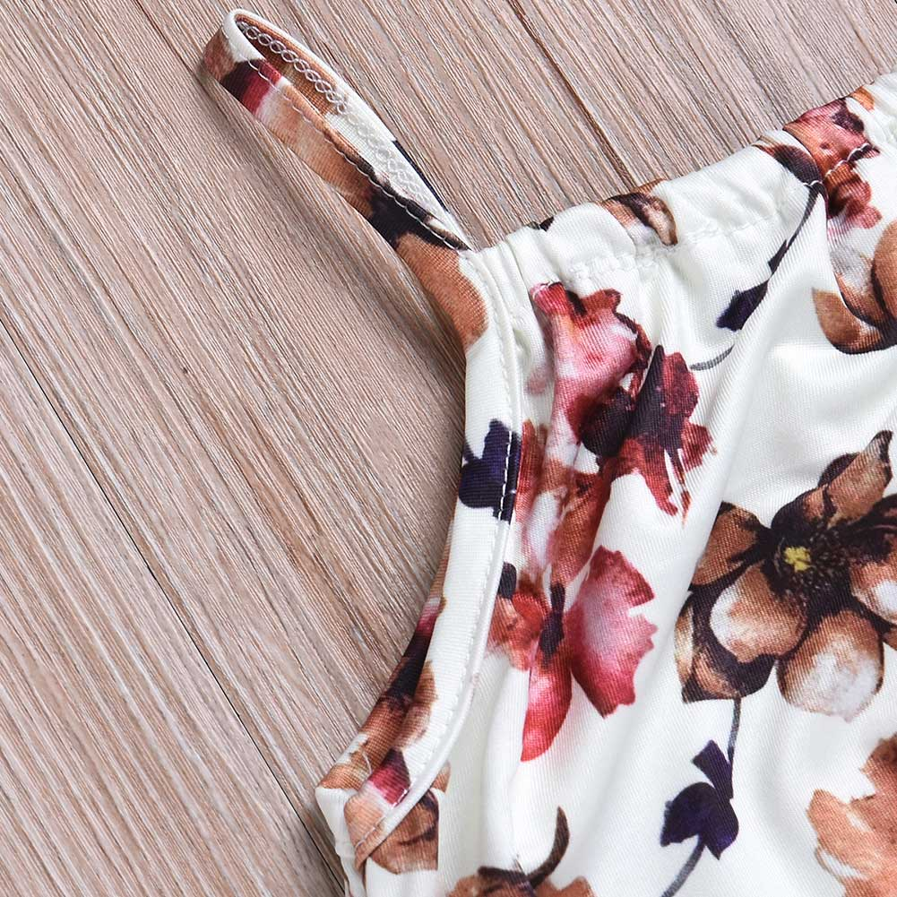 Hot Selling Children Kids Girl Jumpsuit Jumper Baby Printing Floral Summer Outfit Cute Romper