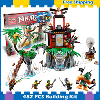 482pcs 2016 Bela 06030 Ninja Tiger Widow Island Building Blocks Model Toys Compatible With lego