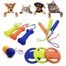 Dog Toys Ball with Rope Flying Discs Chew Toy Ring EVA Pet for Dogs Interactive Cotton Small Large Cats