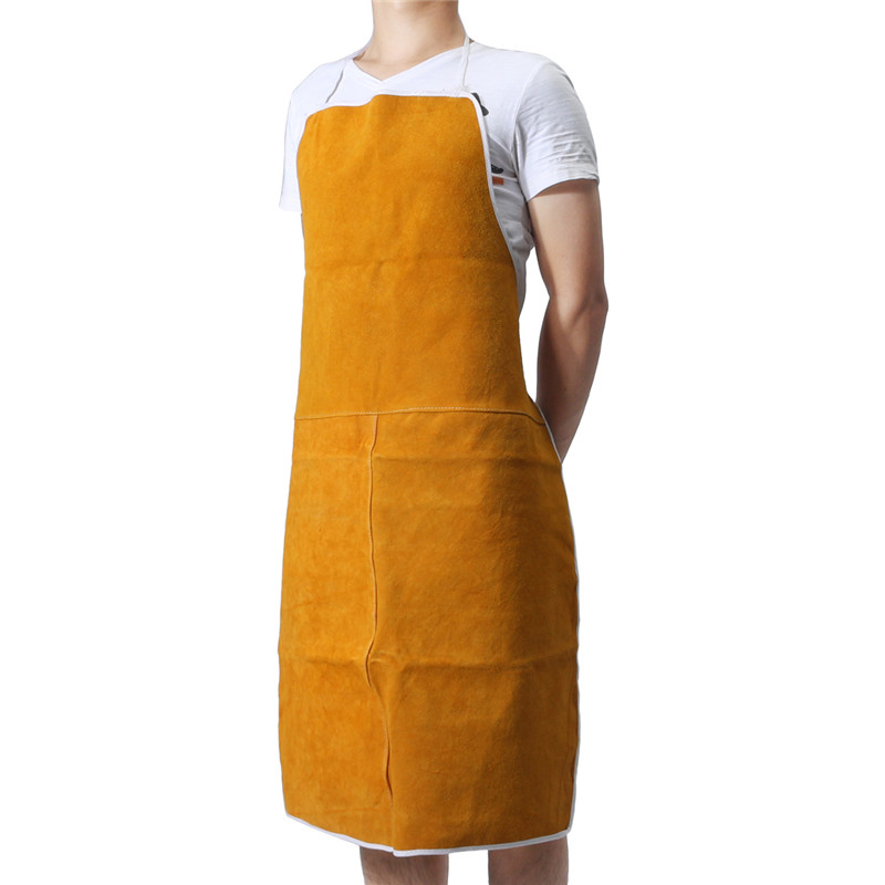 Cow Leather Aprons Welding Heat Insulation Protection Welders Blacksmith 93x64cm Best Price