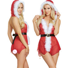 60aabd27da New Year Clothes 2018 Hot Sale Sexy Christmas Costumes Festive Cosplay  Santa Playful Santa Lingerie Costume For Women Nightdress