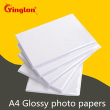 Купить с кэшбэком Free shipping 20pcs/lot A4 photo paper 180g/200g/230g waterproof glossy photographic papers for home inkjet photo printer