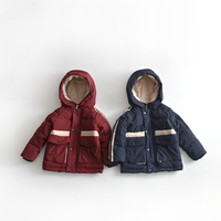 Children Down & Parkas Winter Kids Wool Coats Toddler Outerwear Boys Casual Warm Hooded Jacket for Boys Solid Casual Coats 2 7Y