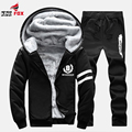 New Fashion brand men Winter Thick Hoodies Cotton Hoodie Coats Tracksuit Men fleece Cardigans mens sweatshirts clothing+pant