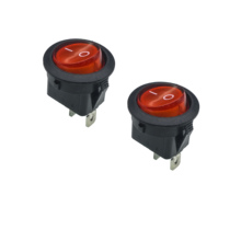 5pcs/lot 23mm Lamp Light Round Button SPST 2PIN Snap-in ON/OFF Position Snap Boat Rocker Switch 6A/250V High Quality Copper feet