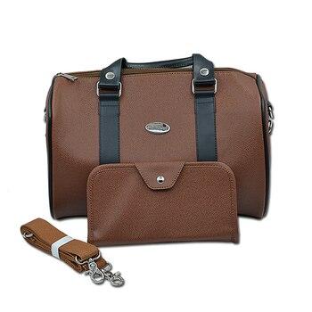 PU Leather Larger Capacity Scissors Bag Set Shoulder Belt & Handbag Kits Barber Hairdresser Styling Pockets High Quality U1003
