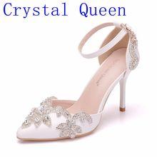 Kristal Rhinestone Ratu Thin Heels Sandal Sepatu Wanita Manis Mewah Platform Baji Sepatu Hak Tinggi Pompa untuk 9 CM