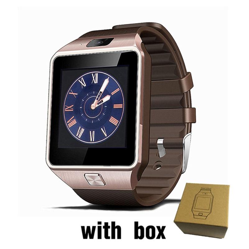 Montre Smart Watch Horloge Avec Fente Pour Carte Sim Push Message Bluetooth Connectivité Android Téléphone Mieux Que DZ09 Smartwatch Hommes Montre