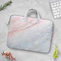Portable Marble Laptop Sleeve Bag 15.6 inch Waterproof Notebook Handbag Case For Macbook Lenovo ASUS HP Dell Laptop Bag Women