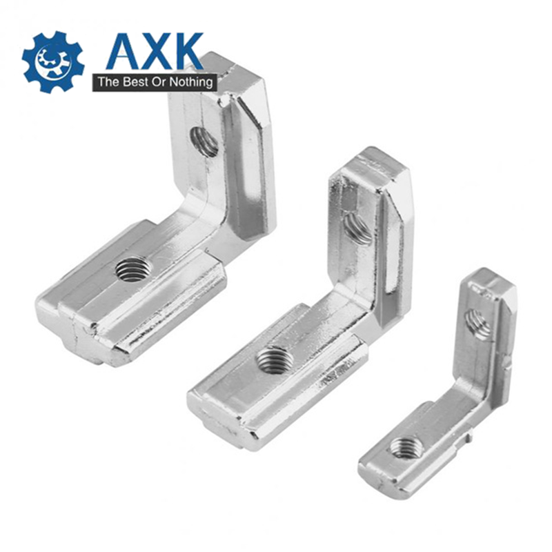 50/30Pcs <font><b>T</b></font> <font><b>Slot</b></font> L Shape 90 Degree <font><b>2020</b></font> Series Aluminum Profile Accessories Inside Corner Connector Bracket With 4mm Screw image