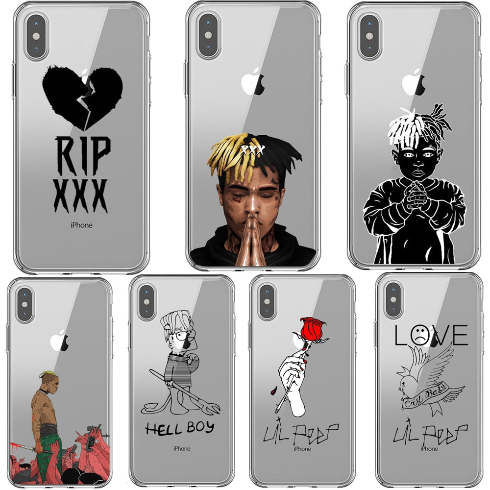 Hip hop Rapper <font><b>xxxtentacion</b></font> bad vibes forever Lil Peep Rose Cover Phone <font><b>Cases</b></font> For <font><b>iPhone</b></font> 11 Pro Max 5S 6 6s <font><b>7</b></font> 8 Plus X XS MAX XR image