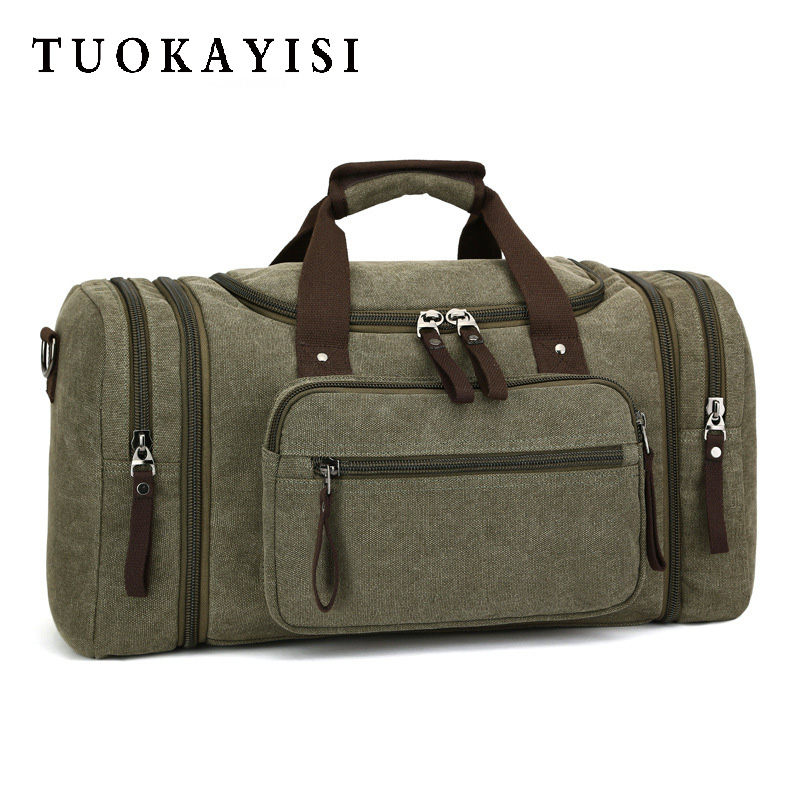men weekend bag duffle Travel Multifunctional large capacity Canvas Handbag Women Portable zippered clothing case bag Waterproof