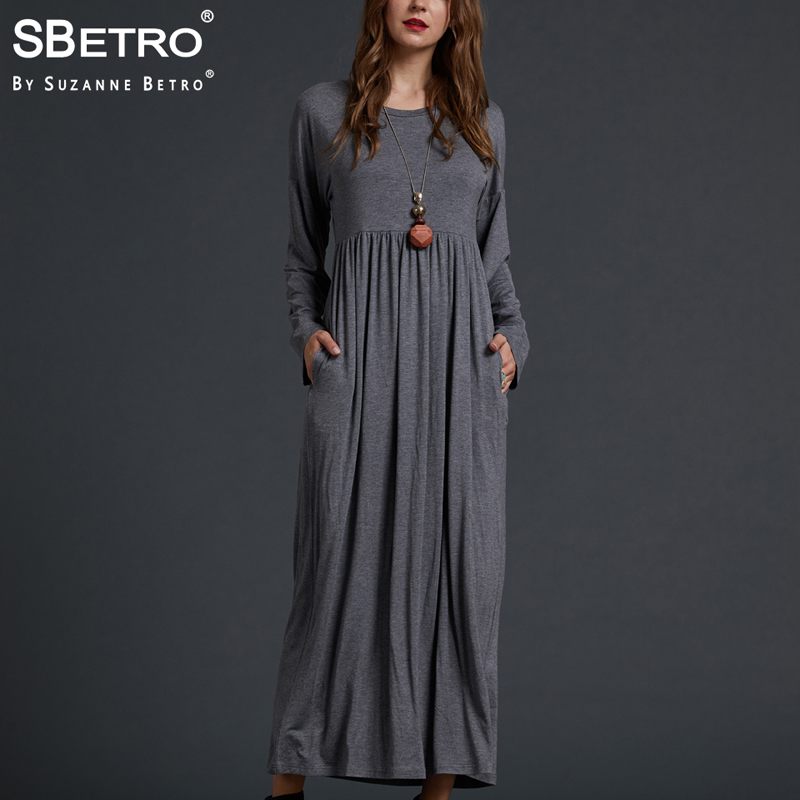 73ec69139bf Cheap Dresses, Buy Directly from China Suppliers:SBetro Casual Solid Long  Dress Ladies Knit