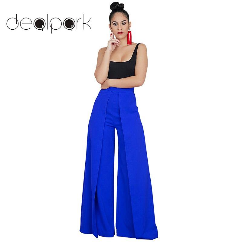Wide     Legs     Pants   Women Baggy   Pants   Solid Color Splicing High Waist Zipper Loose Casual Trousers female office Workwear Sweatpants