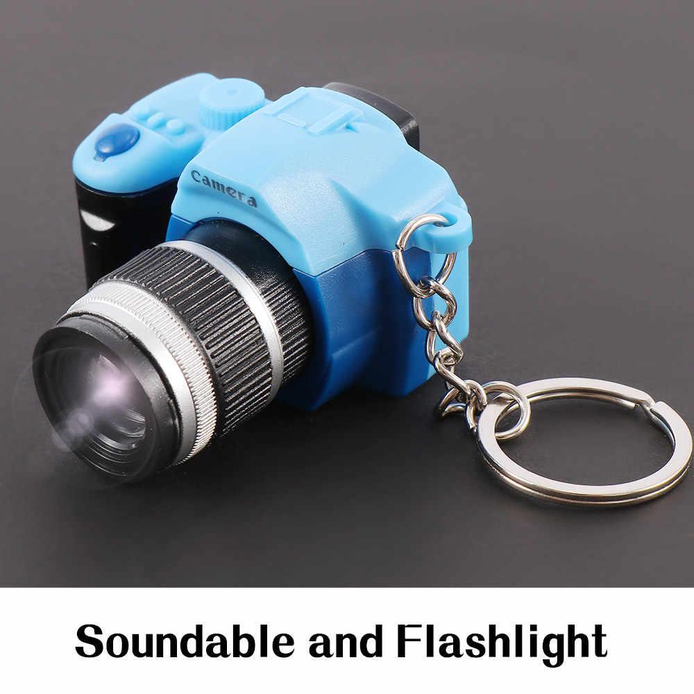 Креативная Камера Светодиодные Брелки со звуком затвора светодиодный Подвеска для ключей с подсветкой необычное кольцо для ключей с игрушкой удивительный подарок брелок
